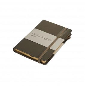 Busquets blokk A6 Platinum Monologue linajkový s gumičkou  zlatý