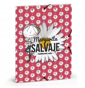 Busquets odkladacia mapa 3-klopá s gumičkou Margarita SALVAJE