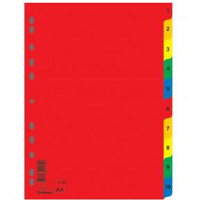 Plastový rozraďovač DONAU 10-dielny farebný