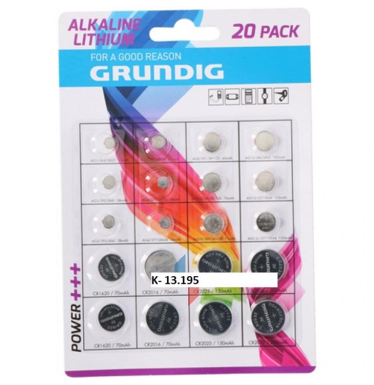 K-13.195 Batérie/20ks lítiové- Grundig