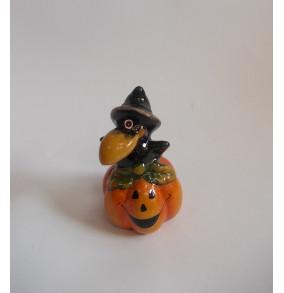 K-8001 Halloween keramický havran-8cm