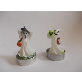 K-9022 Halloween dekoračná sviečka-duch-8cm