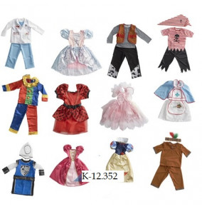 K-12.352 Párty kostým - mix vzorov
