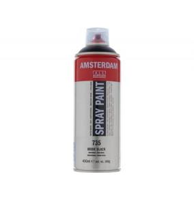 Amsterdam farba v spreji 400ml- 735-čierna