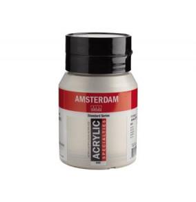 Amsterdam akrylová farba 500ml metalická-silver