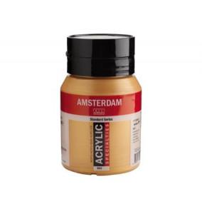 Amsterdam akrylová farba 500ml metalická-deep gold