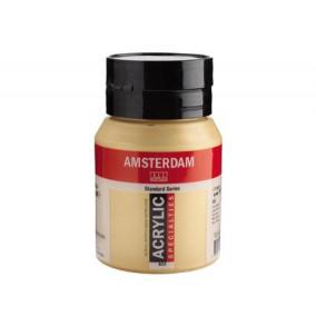 Amsterdam akrylová farba 500ml metalická-light gold