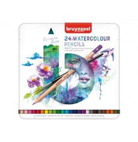Bruynzeel akvarelové farbičky-24ks v kovovom obale
