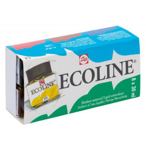 Talens ecoline - kvalitné akvarely 8x30ml
