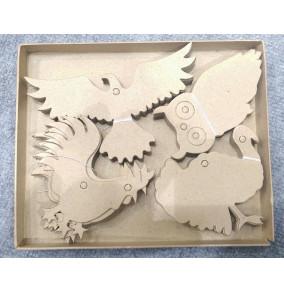 K-20.742 Kartónové výseky na dekorovanie- vtáci/40ks