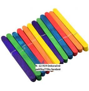 K-12.919 Dekoračné paličky/72ks farebné