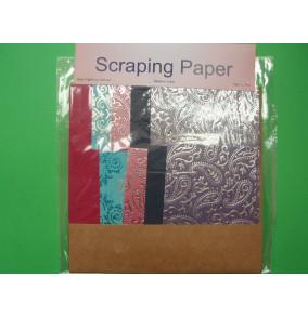 K-20.708 Scraping papier-fialový ornament-mix