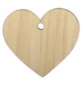 K-6895 Drevenné srdce 6,5x7,2cm