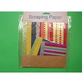 K-20.708 Scraping papier-bodkovaný-mix
