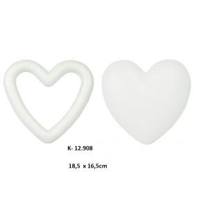 K-12.908 Polystyrénové srdce 18,5x16,5cm