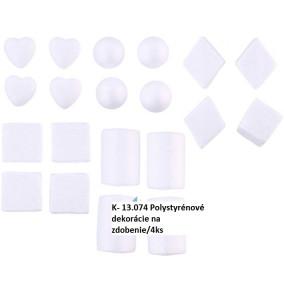 K-13.074 Polystyrénové ozdoby na zdobenie/4ks