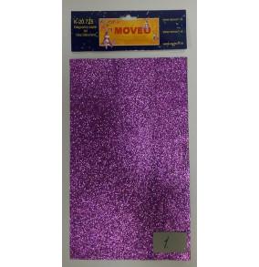 K-20.725-1 Glitrovaný papier-stredne fialová