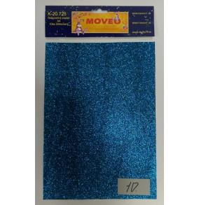 K-20.725-10 Glitrovaný papier-tmavo tyrkysový