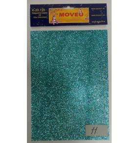 K-20.725-11 Glitrovaný papier-bledo tyrkysový