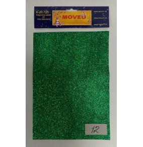 K-20.725-12 Glitrovaný papier-tmavo zelený