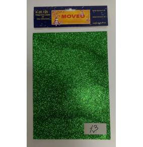 K-20.725-13 Glitrovaný papier-trávovo zelený