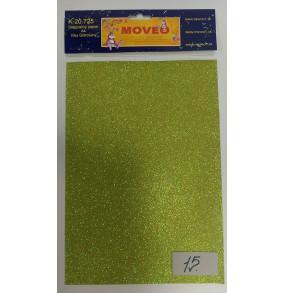 K-20.725-15 Glitrovaný papier-mramorovo-žltý