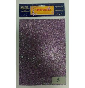 K-20.725-3 Glitrovaný papier- fialová