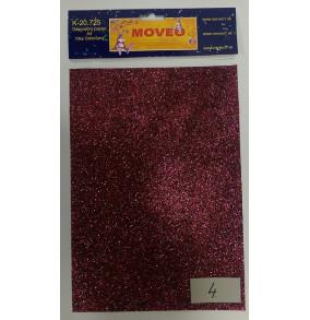 K-20.725-4 Glitrovaný papier- tmavo červený