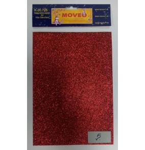 K-20.725-5 Glitrovaný papier- červený