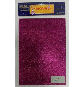 K-20.725-6 Glitrovaný papier-tmavo ružovo-fialový