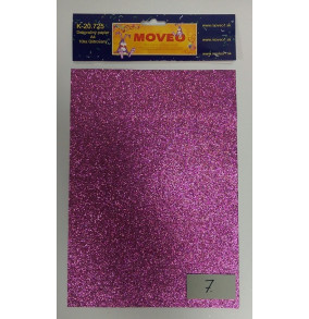 K-20.725-7 Glitrovaný papier-bledo-fialový