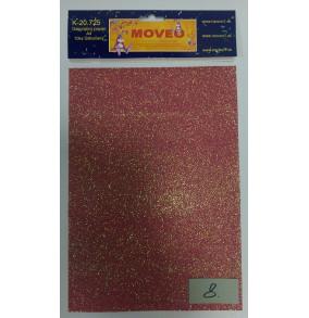 K-20.725-8 Glitrovaný papier-mramorovo-červený