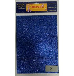 K-20.725-9 Glitrovaný papier-modrý