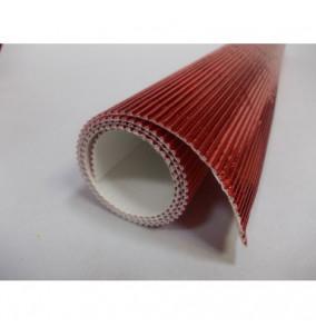 K-20.019 Kartón vlnitý 50x70cm - červený-metál