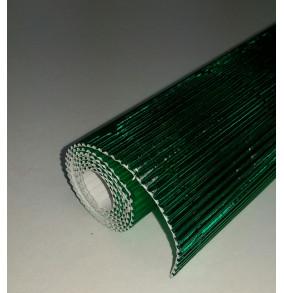 K-20.019 Kartón vlnitý 50x70cm - zelený-metál