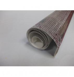 K-20.019 Kartón vlnitý 50x70cm - strieborný-metál