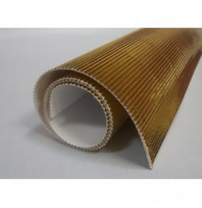 K-20.019 Kartón vlnitý 50x70cm - medenný-metál