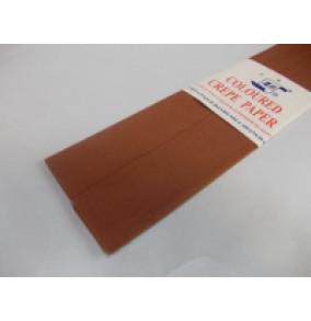 K-20.016 Krepový papier-tmavo-stredne-hnedý