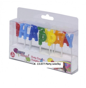 K-13.077 Párty sviečky HAPPY BRITHDAY
