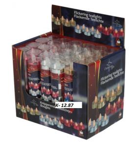 K-12.8777 Čajové sviečky led kahanec-farebné/6ks