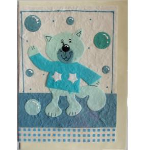 Blahoželanie mačka modrá