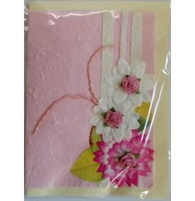 Blahoželanie ružové kvety