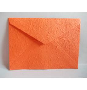 K-20.224 Obálka-ručný papier-veľká-oranžová-syta