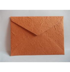K-20.224 Obálka-ručný papier-veľká terakota-sýta