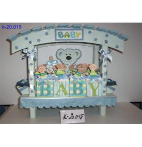 K-20.015 Darč.krabičky BABY modrí chlapci
