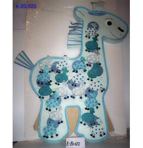K-20.022 Krabičky v stoj.žirafa modrá