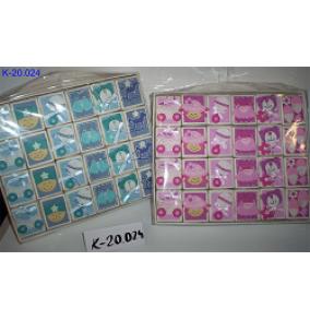 K-20.024 Krabičky na podnose ruž.a modré BABY