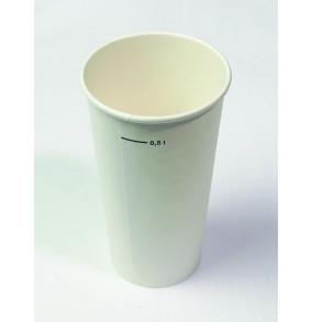 K-10.185 Pohár papierový 510ml/50ks biely