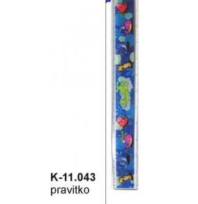 K - 11.043 Pravítko 30cm - pevné
