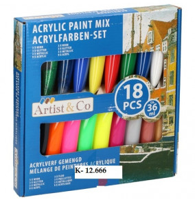 K-12.666 Acrylové farby/18ks